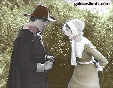 Lars Hanson Lillian Gish as Hester Pryne and  as The Reverend Arthur Dimmesdale in The Scarlet Letter (1928)