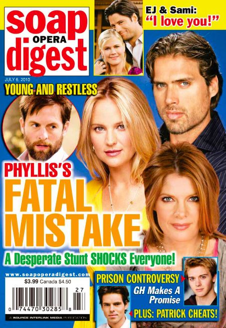James Scott - Soap Opera Digest Magazine [United States] (6 July 2010)
