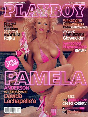 Pamela Anderson - Playboy Magazine Cover [Poland] (February 2002)