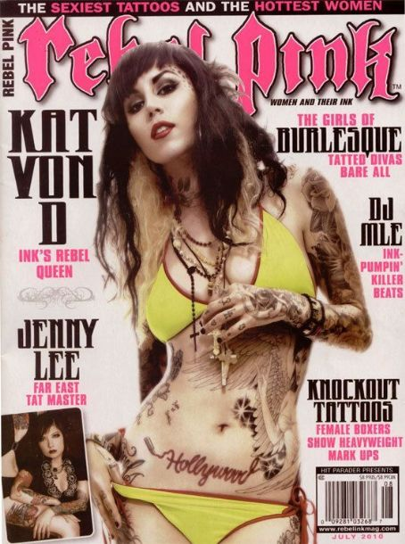 Katherine von Drachenberg - Rebel Pink Ink Magazine Cover [United States] (July 2010)