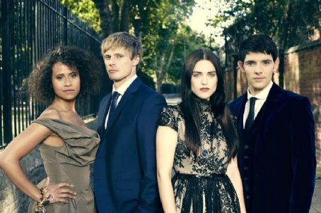 Angel Coulby and Bradley James The