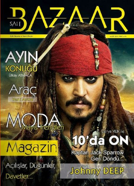 Johnny Depp - Sah Bazaar Magazine Cover [Turkey] (May 2011)