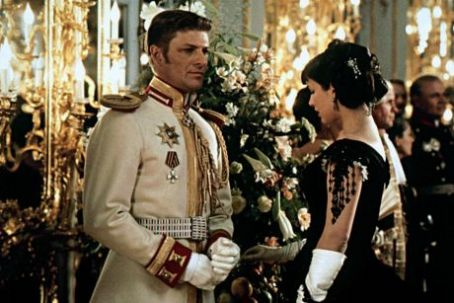 Sophie Marceau as Anna Karenina and Sean Bean as Count Vronsky in Anna Karenina (1997)