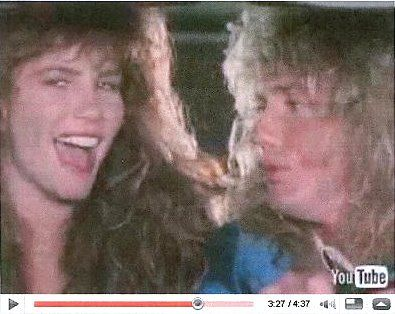 Tawny Kitaen and David Coverdale in the video Here I Go Again