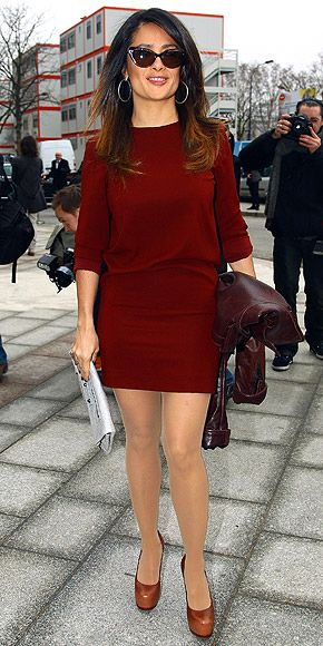 Salma Hayek at the Balenciaga Fall 2012 Fashion Show