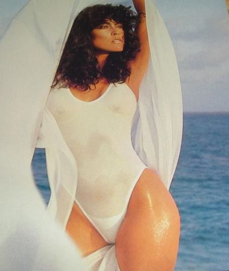 April Wayne  - Swimwear Illustrated Magazine Pictorial [United States] (February 1987)