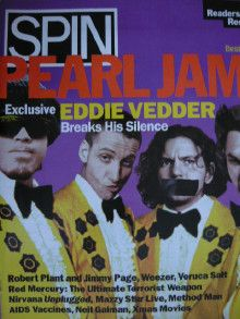 Eddie Vedder - Spin Magazine Cover [United States] (January 1995)