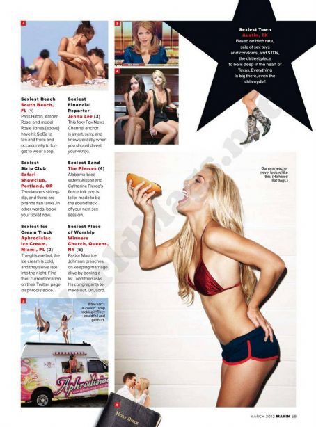 Dominique Storelli  Maxim US March 2012