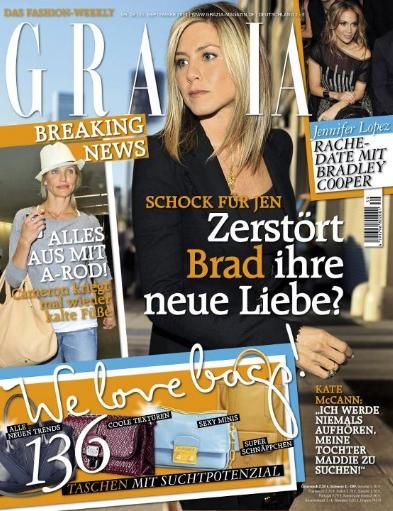 Jennifer Aniston - Grazia Magazine Cover [Germany] (22 September 2011)