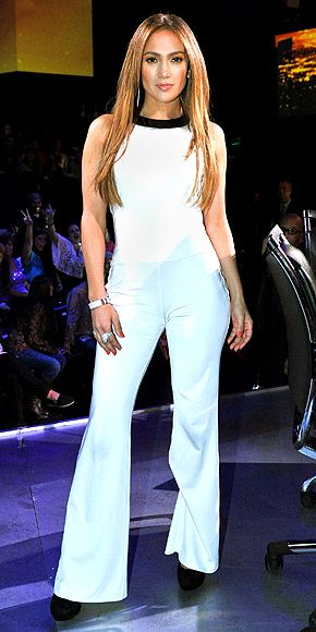 Jennifer Lopez at American Idol's top 13 Show