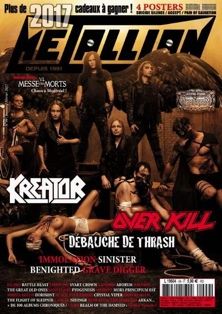 Kreator Magazine Cover Photos - List of magazine covers