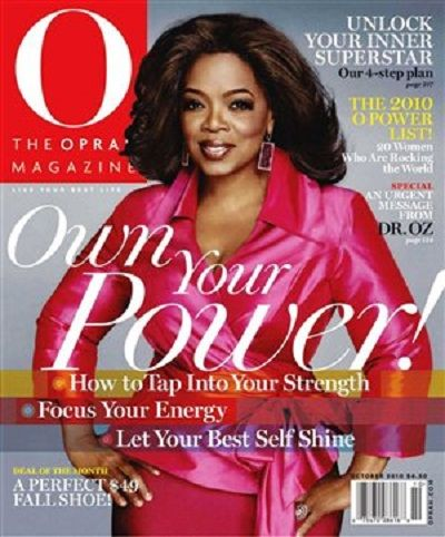 Oprah Winfrey - O, The Oprah Magazine [United States] (October 2010)