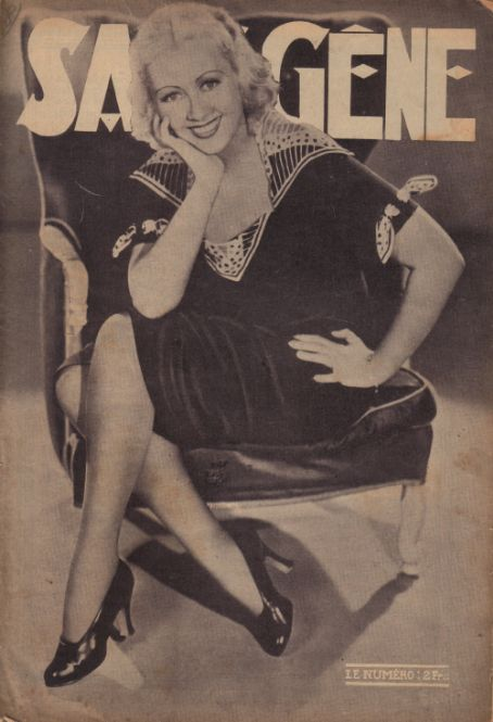 Joan Blondell - Sans-Gene Magazine [France] (January 1937)
