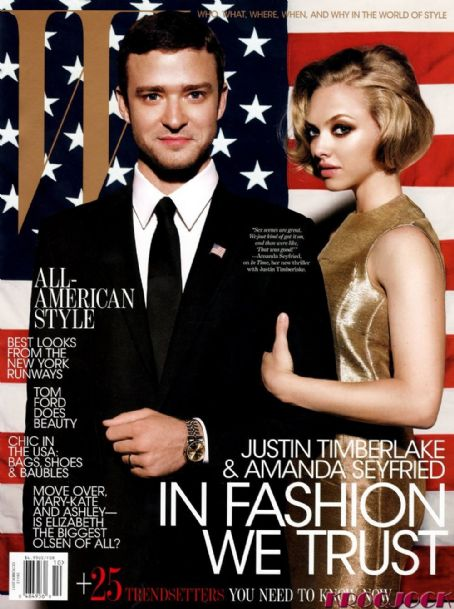 Justin Timberlake, Amanda Seyfried - W Magazine Cover [United States] (October 2011)