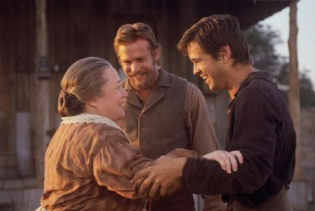 American Outlaws Kathy Bates, Gabriel Macht and Colin Farrell in Warner Brothers'  - 2001