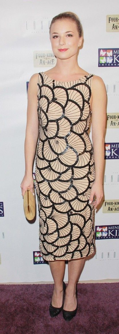 "Emily VanCamp: arrive in style to the Mending Kids International's ""Four Kings & An Ace"" Celebrity Poker Tournament at The London Hotel"