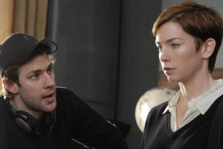 Julianne Nicholson Director John Krasinski and Actress  as Sara Quinn on the set of BRIEF INTERVIEWS WITH HIDEOUS MEN directed by John Krasinski. Photo credit: Jojo Whilden. An IFC Films release