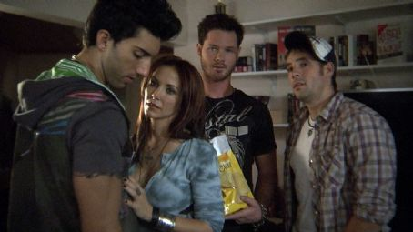Justin Baldoni as Gavin, Amie Barsky as Patricia, Brian Guest as Spike and Michael Marchand as Dustin in Alex Ranarivelo comedy romance 'Knuckle Draggers.'