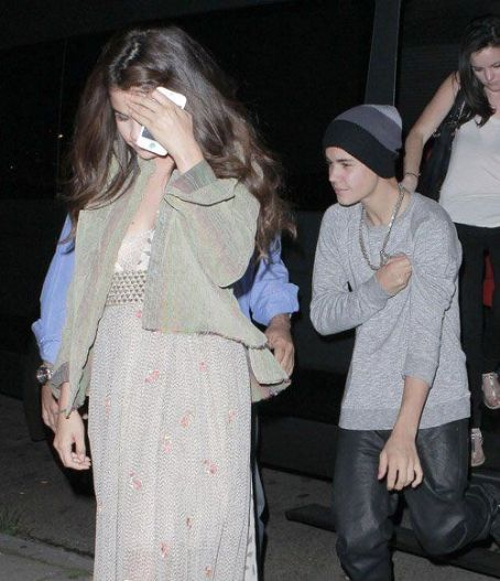Justin Bieber and Selena Gomez at Bo Burnham's comedy show at Largo at the Coronet in Hollywood, August 25,2012