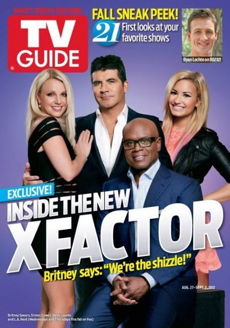 Simon Cowell, Britney Spears, Demi Lovato - TV Guide Magazine Cover [United States] (27 August 2012)