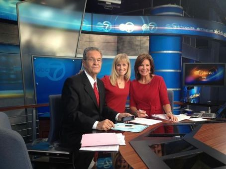 Kathy Brock Ron Magers, Tracy Butler &  In The Channel 7 News Room