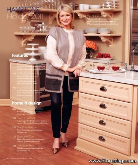 Martha Stewart - Hamptons Magazine Pictorial [United States] (17 November 2011)