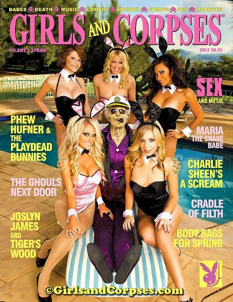 Carla Harvey Josly James on cover of Girls and Corpses