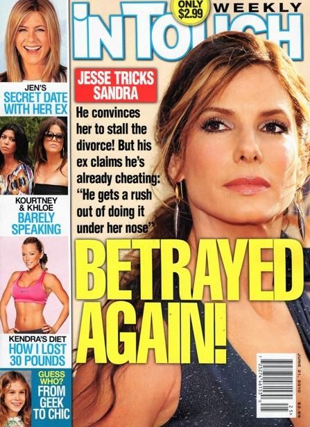 Sandra Bullock - In Touch Weekly Magazine Cover [United States] (21 June 2010)