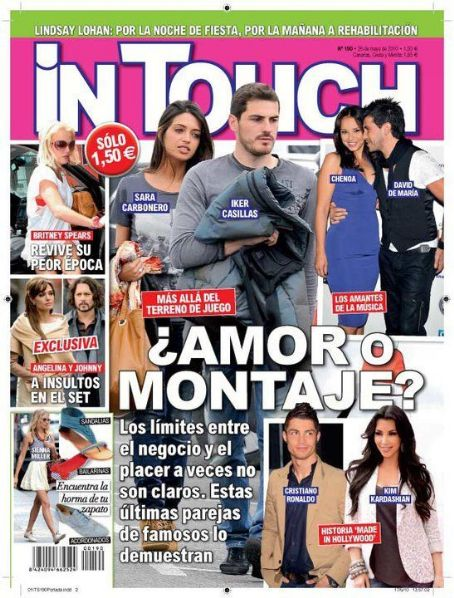 Sara Carbonero, Iker Casillas, Cristiano Ronaldo, Kim Kardashian - In Touch Magazine Cover [Spain] (20 May 2010)