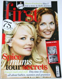 Emma Bunton, Geri Halliwell - First Magazine Cover [United Kingdom] (24 September 2007)