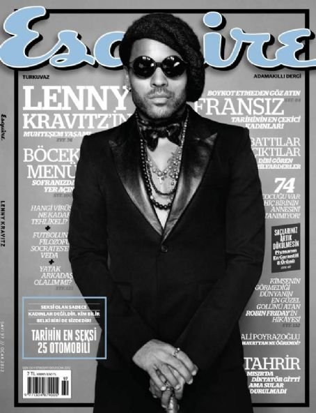 Lenny Kravitz - Esquire Magazine Cover [Turkey] (January 2012)