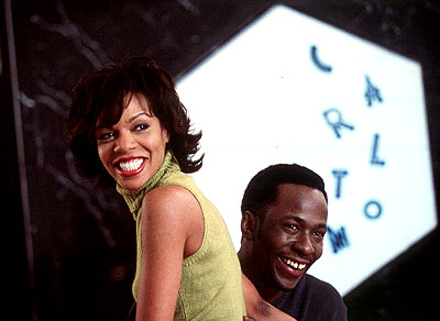 Wendy Raquel Robinson and Bobby Brown in Screen Gems' Two Can Play That Game - 2001