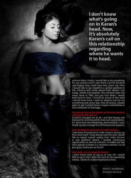 Kritika Kamra - Zing Magazine Pictorial [India] (November 2011)