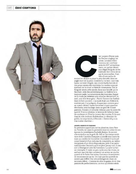 Eric Cantona GQ Magazine Pictorial April 2010 France