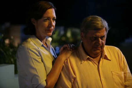 Michael Lerner Allison Janney as Trish and  as Harvey in LIFE DURING WARTIME directed by Todd Solondz. Photo Credit: Francisco Roman. An IFC Films release