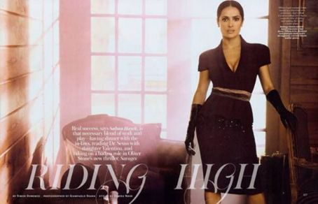 Salma Hayek InStyle US July 2012