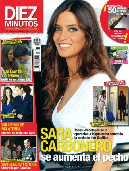 Sara Carbonero - Diez Minutos Magazine Cover [Spain] (1 October 2010)
