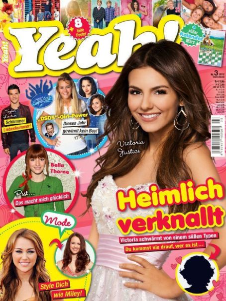 Victoria Justice, Bella Thorne, Miley Cyrus, Taylor Lautner - Yeah Magazine Cover [Germany] (March 2012)