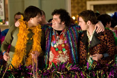 Josh Gad (l to r) Nicholas D'Agosto,  and Bret Harrison star in Screen Gems' comedy MAX'S MARDI GRAS. Photo By: Peter 'Hopper' Stone