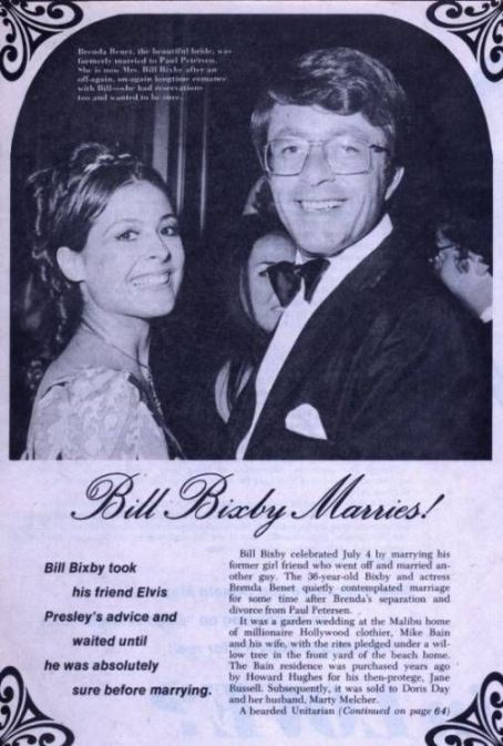 Brenda Benet  and Bill Bixby Get Married - 1971