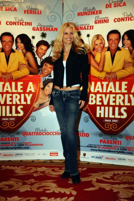 "Christmas in Beverly Hills - Michelle Hunziker - Photocall Of ""Christmas In Beverly Hills"" In Rome - December 17, 2009"
