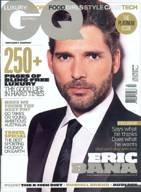 Eric Bana - GQ Magazine Cover [Australia] (March 2009)