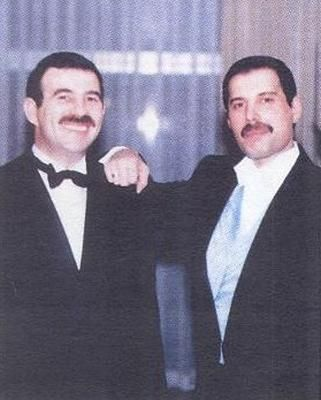 Jim Hutton and Freddie Mercury