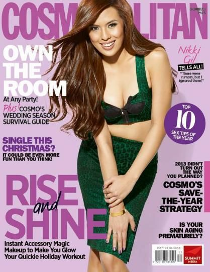 Nikki Gil - Cosmopolitan Magazine Cover [Philippines] (December 2013)