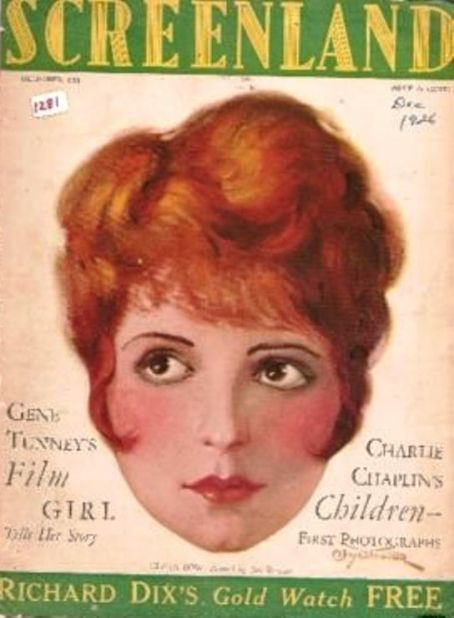 Clara Bow - Screenland Magazine [United States] (December 1926)