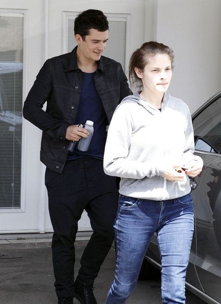 Orlando Bloom made his way out of a gym in West Hollywood, California on April 5, 2012 after a work out session