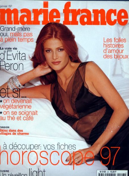 Angie Everhart - MARIE FRANCE Magazine Cover [France] (January 1997)