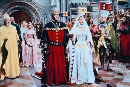 Guinevere Ava Gardner As  And Mel Ferrer As King Arthur In Knights Of The Round Table (1953)
