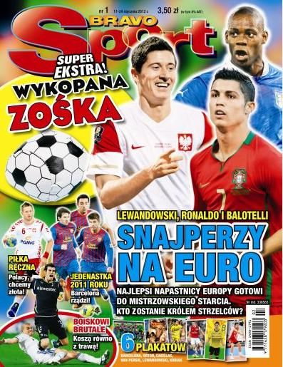 Robert Lewandowski, Cristiano Ronaldo - BRAVO sport Magazine Cover [Poland] (11 January 2012)