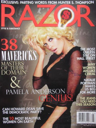 Pamela Anderson - Razor Magazine Cover [United States] (May 2005)